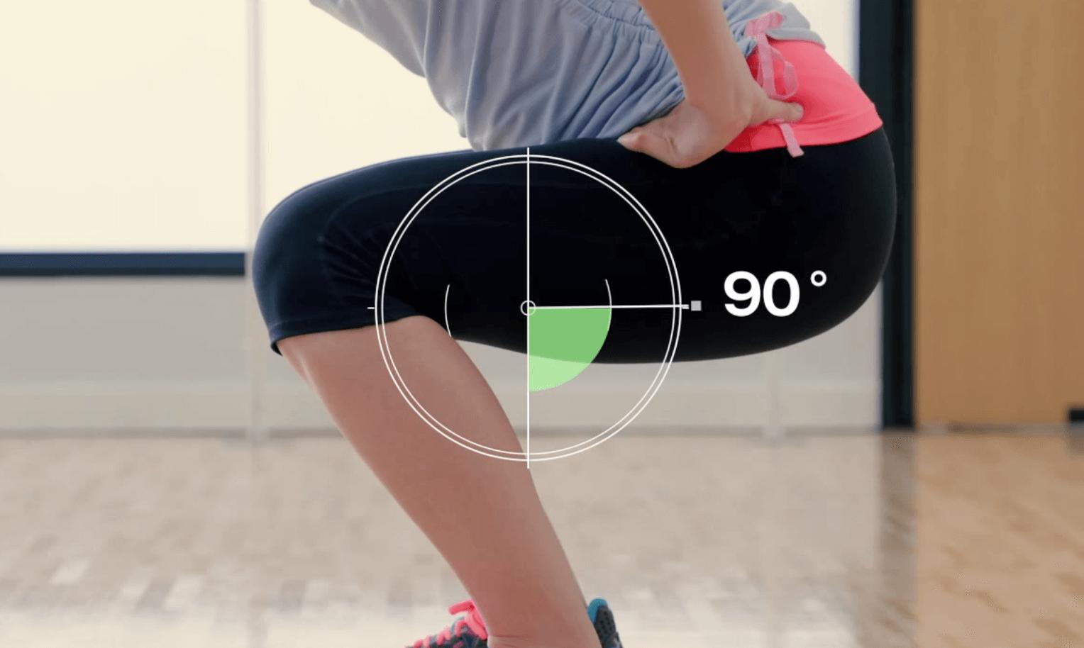 スクワットの正しい姿勢(膝は90度)