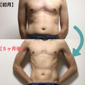 腹筋ローラーのビフォーアフター