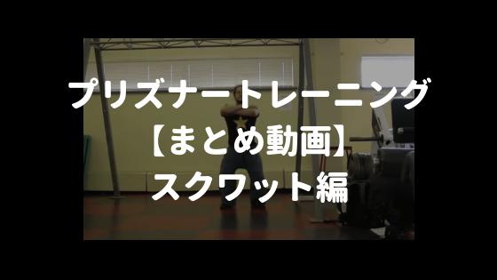 プリズナートレーニング スクワット動画まとめ
