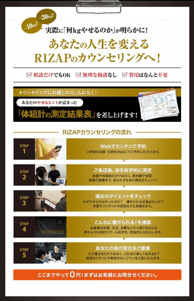 rizap-無料カウンセリング